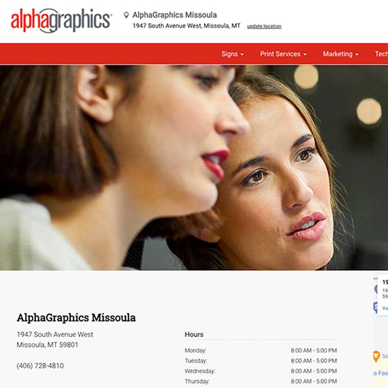 AlphaGraphics Site Upkeep and Maintenance Image