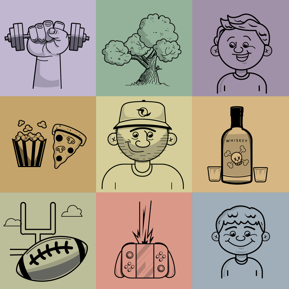 Hand drawn vector illustration by Mike Dreiling